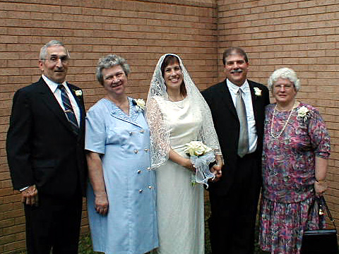 The newlyweds and their parents: